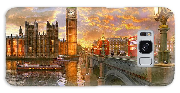 Pigeon Galaxy S8 Case - Westminster Sunset by Dominic Davison