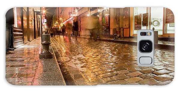Wet Paris Street Galaxy Case