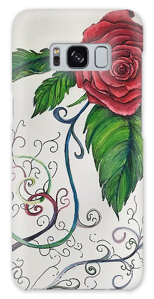 Whimsical Red Rose Galaxy Case