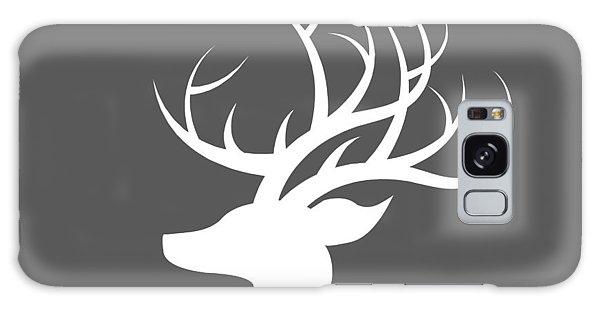 White Deer Silhouette Galaxy Case