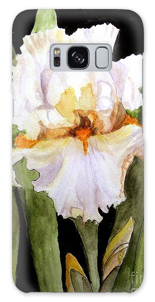 White Iris In The Garden Galaxy Case by Carol Grimes