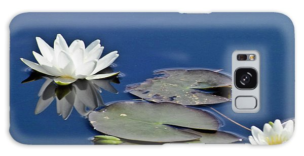 Galaxy Case featuring the photograph White Water Lily by Heiko Koehrer-Wagner