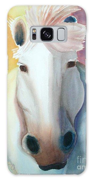 White Work Horse Galaxy Case