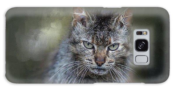 Wild Cat Portrait Galaxy Case