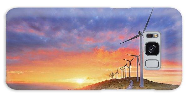 wind turbines in Oiz eolic park Galaxy Case