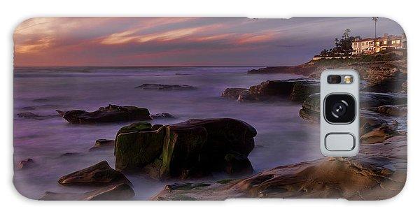 Windansea Beach At Dusk Galaxy Case by Eddie Yerkish