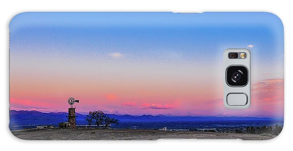 Windmill At Sunrise Galaxy Case