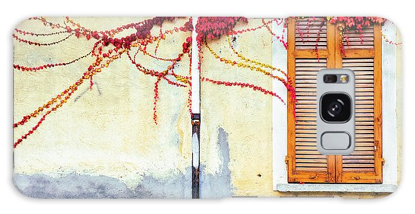 Galaxy Case featuring the photograph Window And Red Vine by Silvia Ganora