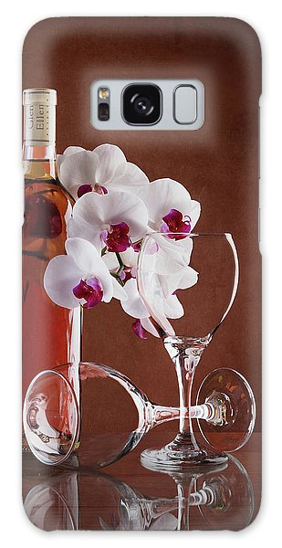 Orchid Galaxy S8 Case - Wine And Orchids Still Life by Tom Mc Nemar