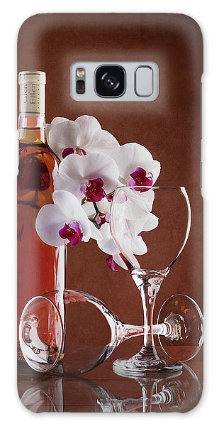 Orchid Galaxy Case - Wine And Orchids Still Life by Tom Mc Nemar