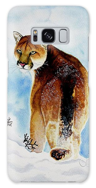 Winter Cougar Galaxy Case by Jimmy Smith