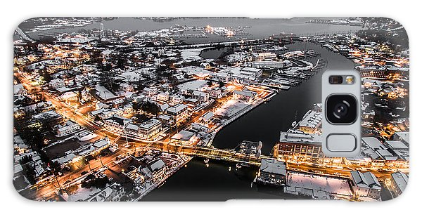 Winter Twilight In Mystic Connecticut Galaxy Case by Petr Hejl