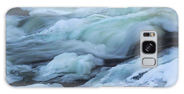 Winter Waterfall Galaxy Case