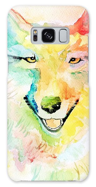 Galaxy Case featuring the painting Wolfie by Denise Tomasura