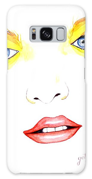 Woman Scent Watercolor Painting Galaxy Case