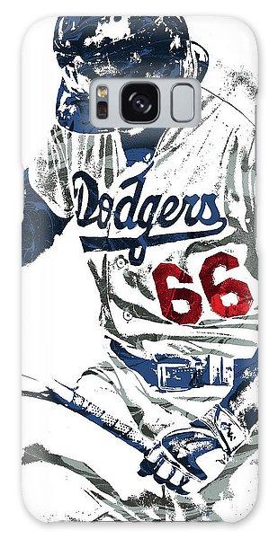 Los Angeles Dodgers Galaxy S8 Case - Yasiel Puig Los Angeles Dodgers Pixel Art by Joe Hamilton