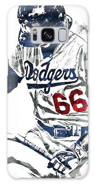 Yasiel Puig Los Angeles Dodgers Pixel Art Galaxy Case by Joe Hamilton