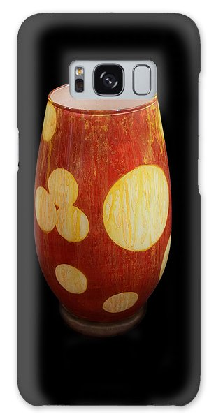 Yellow And White Vase Galaxy Case