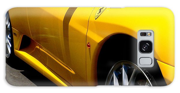 Yellow Ferrari Galaxy Case by Jeff Lowe