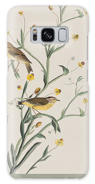 Yellow Red-poll Warbler Galaxy Case by John James Audubon