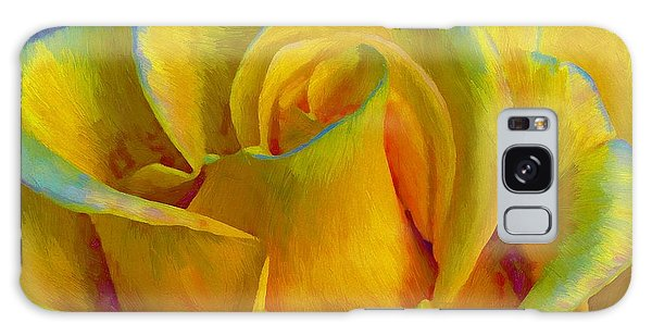 Yellow Rose Galaxy Case by John  Kolenberg