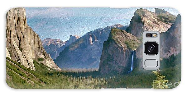 Yosemite Falls Galaxy Case by Walter Colvin