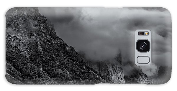 Yosemite Valley Panorama In Black And White Galaxy Case