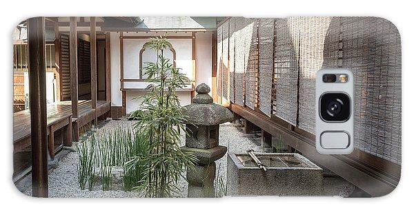 Zen Garden, Kyoto Japan Galaxy Case