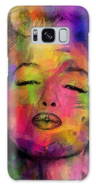 Abstract People Galaxy Case - Marilyn Monroe by Mark Ashkenazi