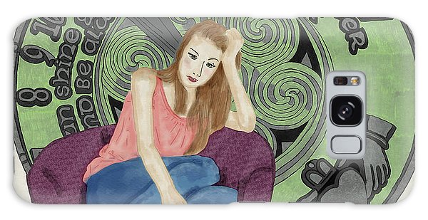 Galaxy Case featuring the digital art 10 Months by Megan Dirsa-DuBois