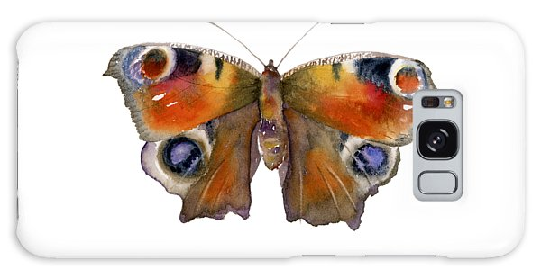 Peacocks Galaxy Case - 10 Peacock Butterfly by Amy Kirkpatrick
