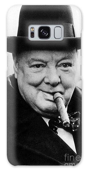 Portraiture Galaxy Case - Winston Churchill by English School
