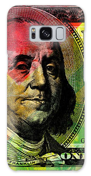 Benjamin Franklin - Full Size $100 Bank Note Galaxy Case