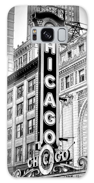 1077 Chicago Theater Black And White Galaxy Case