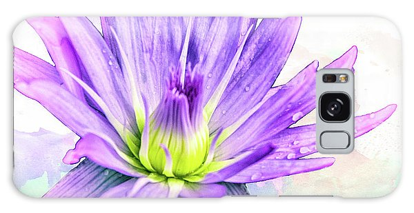 10889 Purple Lily Galaxy Case