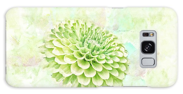 10891 Green Chrysanthemum Galaxy Case