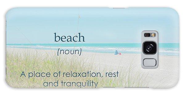 10967 Beach Tranquility Galaxy Case