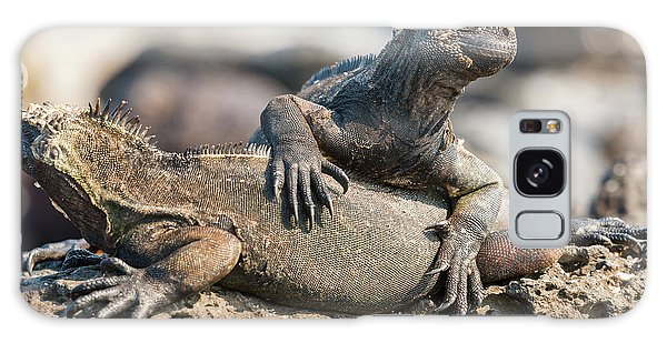 Marine Iguana On Galapagos Islands Galaxy Case by Marek Poplawski