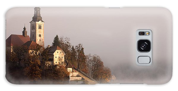 Misty Lake Bled Galaxy Case by Ian Middleton