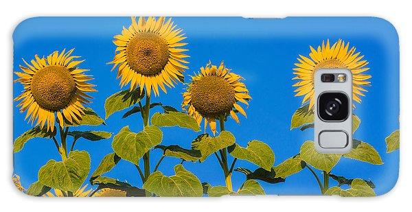Sunflower Galaxy S8 Case - Field Of Sunflowers by Bernard Jaubert