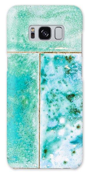 Mottled Galaxy Case - Blue Tiles by Tom Gowanlock