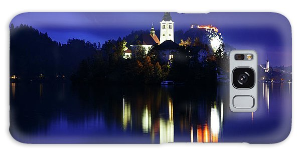 Dusk Over Lake Bled Galaxy Case
