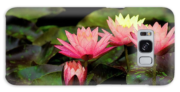 Water Lilies And Lily Pads Galaxy Case