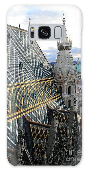 St Stephens Cathedral Vienna Galaxy Case by Angela Rath
