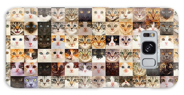 140 Random Cats Galaxy Case