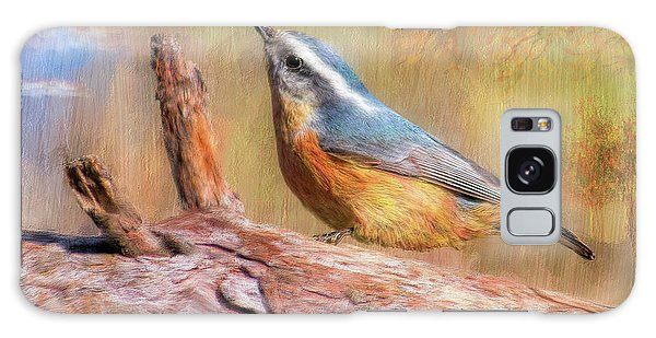 Red Breasted Nuthatch Galaxy Case