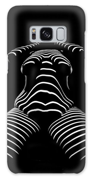1422-tnd Zebra Woman Big Girl Striped Woman Black And White Abstract Photo By Chris Maher Galaxy Case