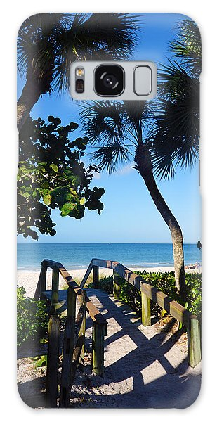 14th Ave S Beach Access Ramp - Naples Fl Galaxy Case