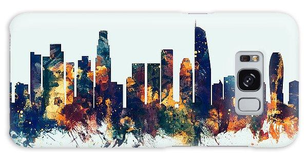 Los Angeles California Skyline Galaxy Case by Michael Tompsett