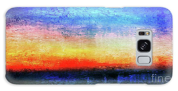 15a Abstract Seascape Sunrise Painting Digital Galaxy Case